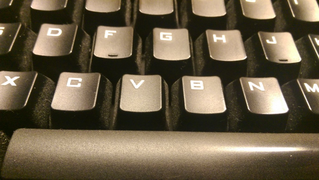 The keys are nice and clean. I barely feel the letters